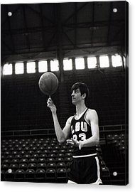 Pete Maravich Spinning Ball On Finger Acrylic Print