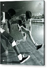 Pete Maravich Tricky Pass Acrylic Print by Retro Images Archive
