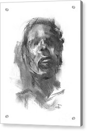Acrylic Print featuring the drawing Pete by Paul Davenport