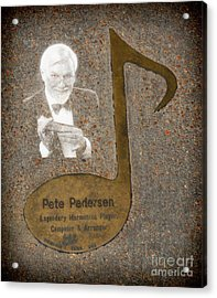 Pete Pedersen Note Acrylic Print by Donna Greene