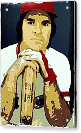 Pete Rose Poster Art Acrylic Print