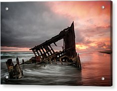 Peter Iredale Sunset Acrylic Print