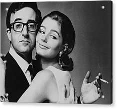 Peter Sellers Posing With A Model Acrylic Print