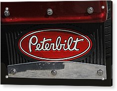 Peterbilt Emblem Mud Guard Acrylic Print
