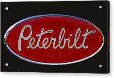 Peterbilt Semi Truck Emblem Acrylic Print