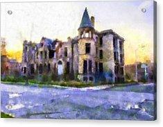 Peterboro Castle Ruins Acrylic Print by Priya Ghose