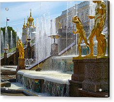 Peterhof Palace Fountains Acrylic Print by David Nichols