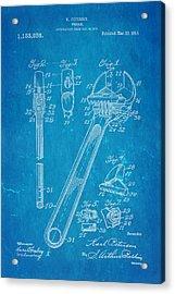 Peterson Wrench Patent Art 1915 Blueprint Acrylic Print