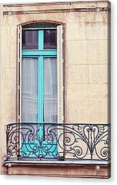 Petit - Parisian Balcony  Acrylic Print