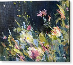 Acrylic Print featuring the painting Petite Bouquet by Mary Lynne Powers