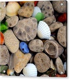 Petoskey Stones V Acrylic Print by Michelle Calkins