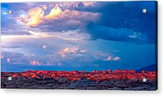 Petrified Dunes Sunset Acrylic Print by John McArthur