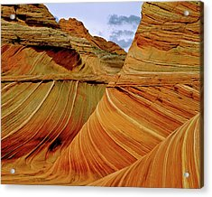 Petrified Sand Dunes The Wave Acrylic Print by Ed  Riche