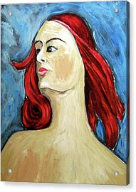 Acrylic Print featuring the painting Petrina by Clarence Major