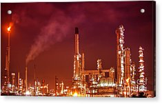 Petrochemical Oil Refinery Plant  Acrylic Print