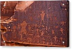 Petroglyph In Utah Acrylic Print