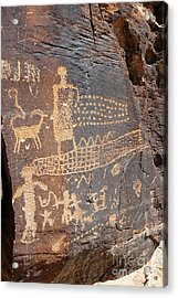 555p Petroglyph - Nine Mile Canyon Acrylic Print by NightVisions
