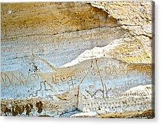 Petroglyphs At Petroglyph Point In Lava Beds Nmon-ca Acrylic Print