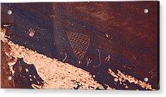 Petroglyphs In Utah Acrylic Print