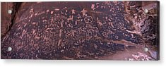 Petroglyphs On A Rock, Newspaper Rock Acrylic Print