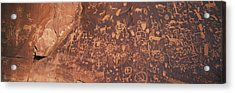 Petroglyphs On Newspaper Rock, Utah Acrylic Print