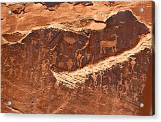 Petroglyphs Or Rock Art In Utah Acrylic Print