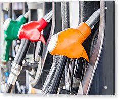 Petrol Pump Filling Acrylic Print by FeelPic