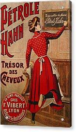 Petrole Hahn Acrylic Print by Boulanger Lautrec