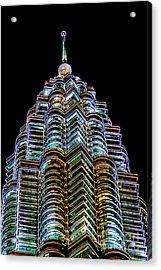Petronas Tower Acrylic Print by Adrian Evans