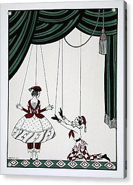 Petroushka Acrylic Print by Georges Barbier