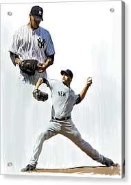 Pettitte  Andy Pettitte Acrylic Print by Iconic Images Art Gallery David Pucciarelli