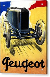 Peugeot Advert Acrylic Print by Lyle Brown