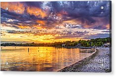 Pewaukee Orange Fury Acrylic Print