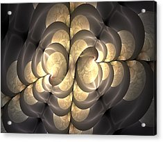 Pewter And Gold Acrylic Print
