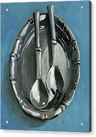 Pewter Dish Acrylic Print by Karyn Robinson