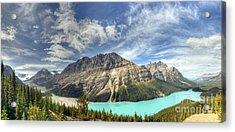 Acrylic Print featuring the photograph Peyto Lake by Wanda Krack