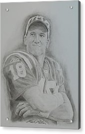 Peyton Manning Acrylic Print by Brent  Mileham