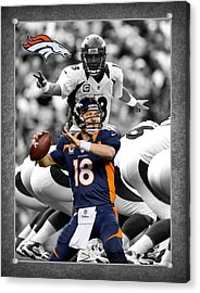 Peyton Manning Broncos Acrylic Print