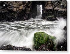 Pfeiffer Beach Keyhole Rock Acrylic Print by Chris Frost
