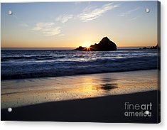 Pfeiffer Beach Sunset Acrylic Print by Jenna Szerlag