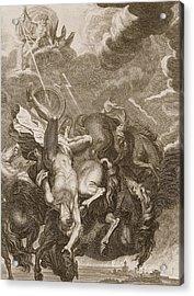 Phaeton Struck Down By Jupiter's Thunderbolt Acrylic Print by Bernard Picart