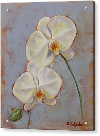 Acrylic Print featuring the painting Phalaenopsis Orchid by Margaret Stockdale