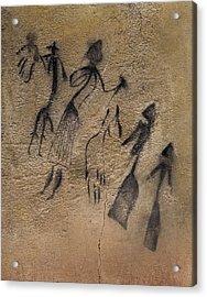Phallic Dance In Naturalistic-stylized Acrylic Print by Everett