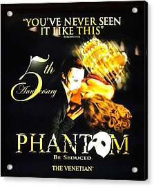 Phantom At The Venetian Acrylic Print by Natalie Ortiz