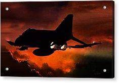 Phantom Burn Acrylic Print by Peter Chilelli