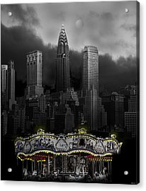 Phantom Carousel Acrylic Print by Larry Butterworth