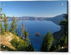 Phantom Ship Island In Crater Lake Acrylic Print by Brian Harig