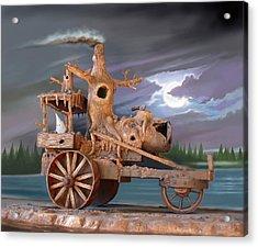 Phantom Steam Tractor Acrylic Print by Stuart Swartz