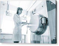Pharmaceutical Worker Acrylic Print by Wladimir Bulgar/science Photo Library