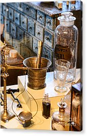 Pharmacist - Brass Mortar And Pestle Acrylic Print by Paul Ward